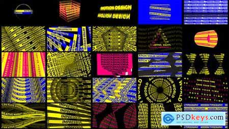 Videohive Phantasmagoria of Letters -- Kinetic Typography Scenes 25257846