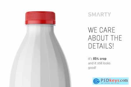Glossy milk bottle mockup 4360273