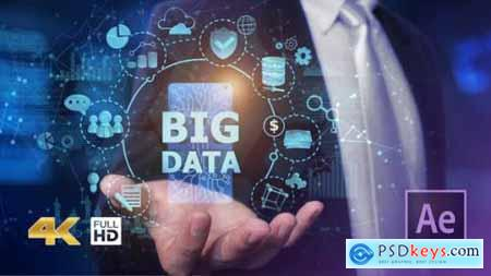 Videohive Businessman Open Hand Big Data 24982264