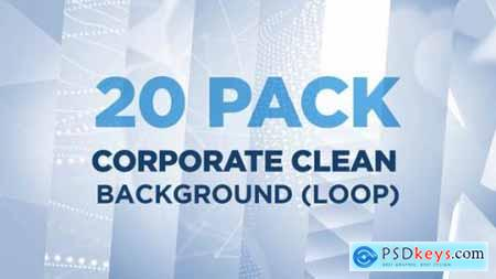Videohive 20 PACK Corporate Clean Background (Loop) 22721787