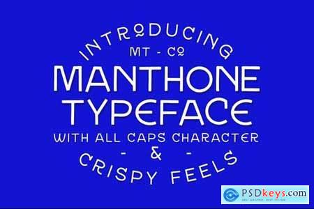 Manthone Typeface