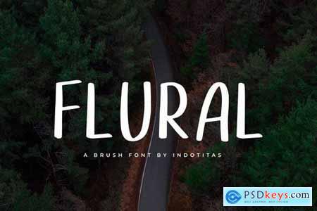 Flural - Brush Font