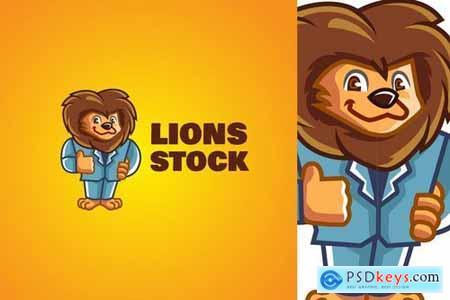 Lion Business - Mascot Logo