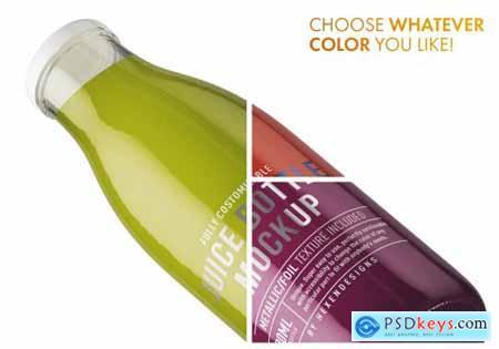 Juice Round Bottle Mockup 4508759
