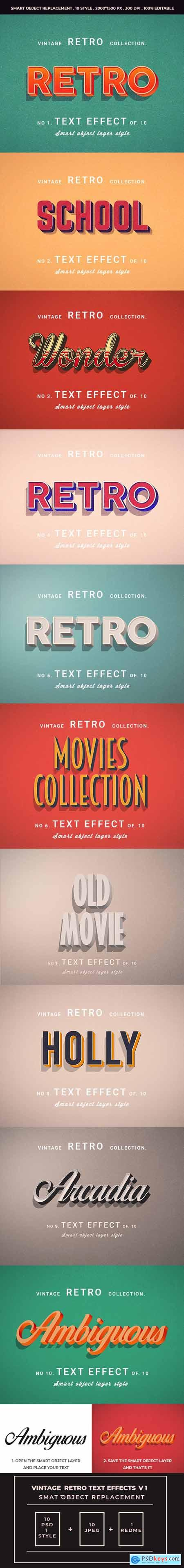 Retro Vintage Text Effects For Photoshop V1 25508009