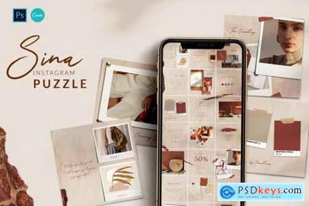 SINA Instagram Puzzle PS & Canva 4465600