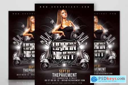 Urban Night Party Flyer 4461207