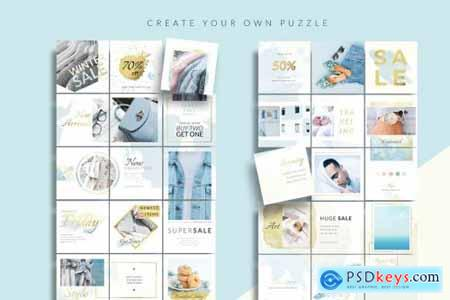 Wind Instagram Puzzle Canva & PS 4458401
