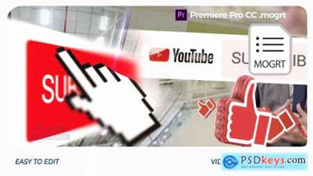 Videohive YouTube Opener Premiere Pro Mogrt 25552335
