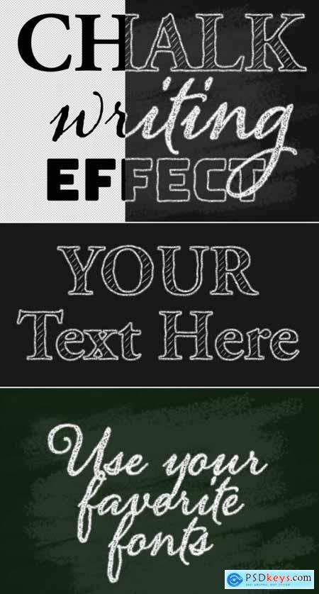 Chalk Writing Text Effect Mockup 318659826