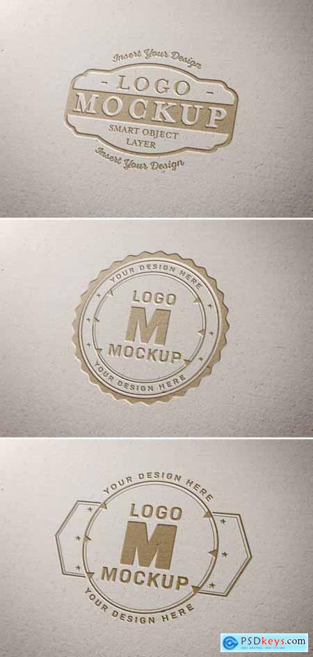 Paper Pressed Logo Mockup 318694453