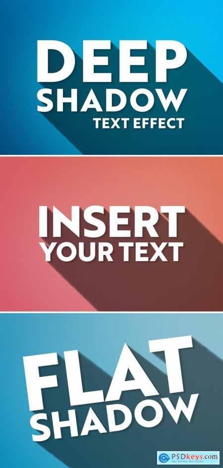 Long Shadow Text Effect Mockup 318694376