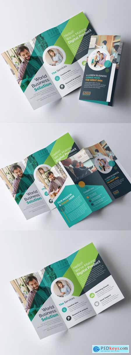 Corporate Trifold Brochure Layout 317788403