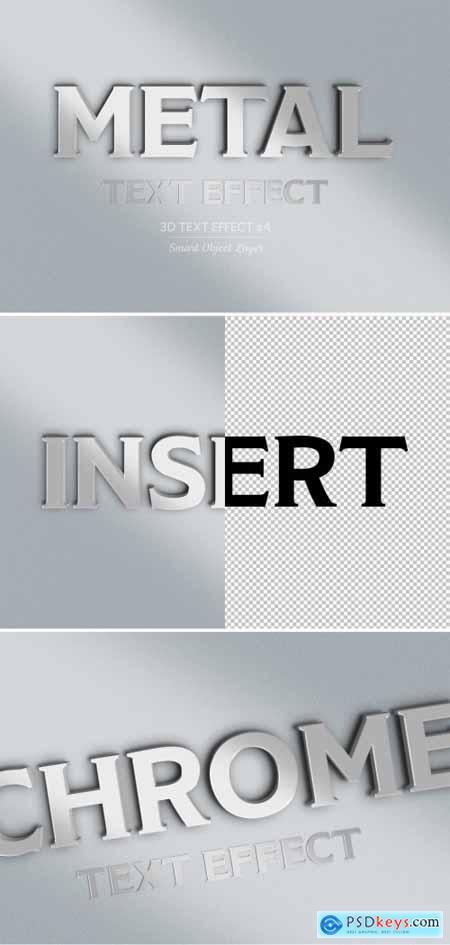 Metal 3D Text Effect Mockup 318694395