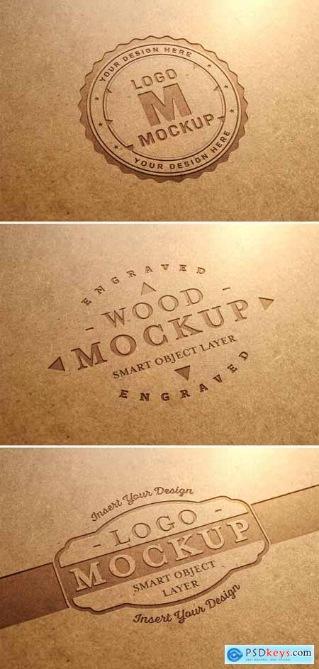 Carved Wood Text Effect Mockup 318694274
