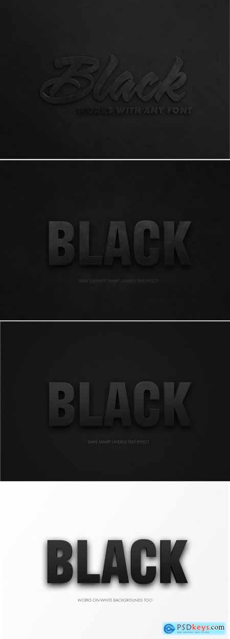 Black Text Effect Mockup 318686353