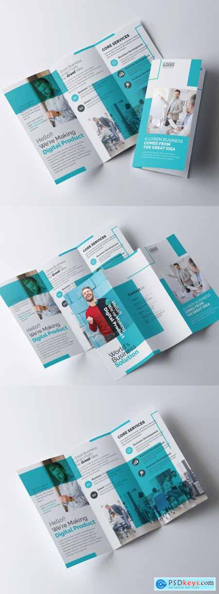 Simple Trifold Brochure Layout 317788323