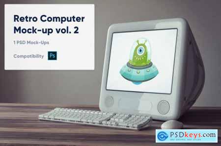 1 Retro Computer Mockup vol. 2