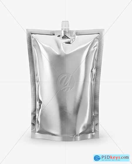 Glossy Metallic Doy-Pack Mockup 54653