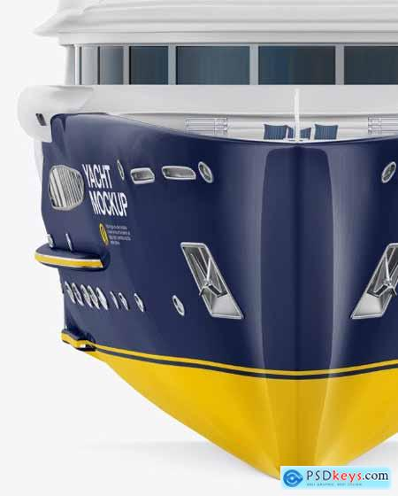 Yacht Mockup - Front View 54684