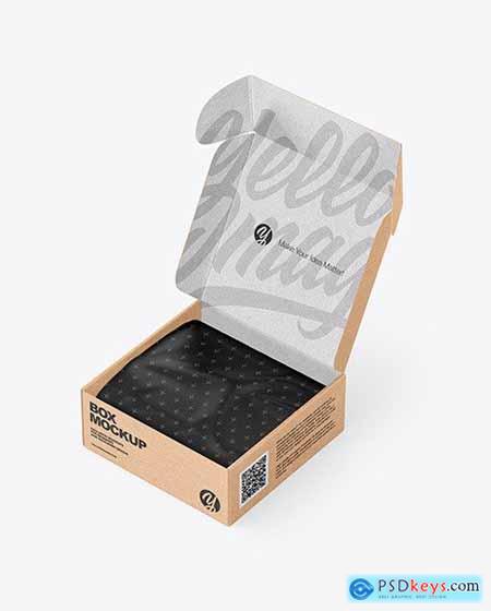 Opened Kraft Box Mockup 54639