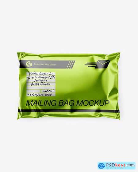 Metallic Mailing Bag Mockup - Top View 54674