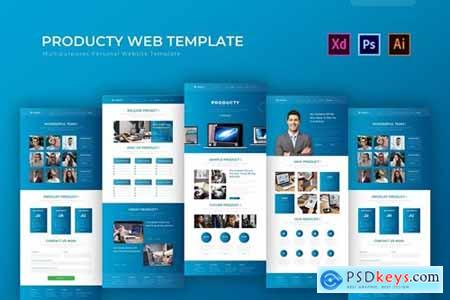 Producty - PSD Web Template