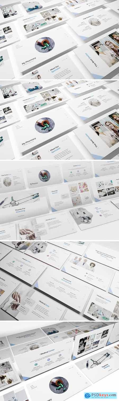Pharmacy Powerpoint, Keynote and Google Slides Templates