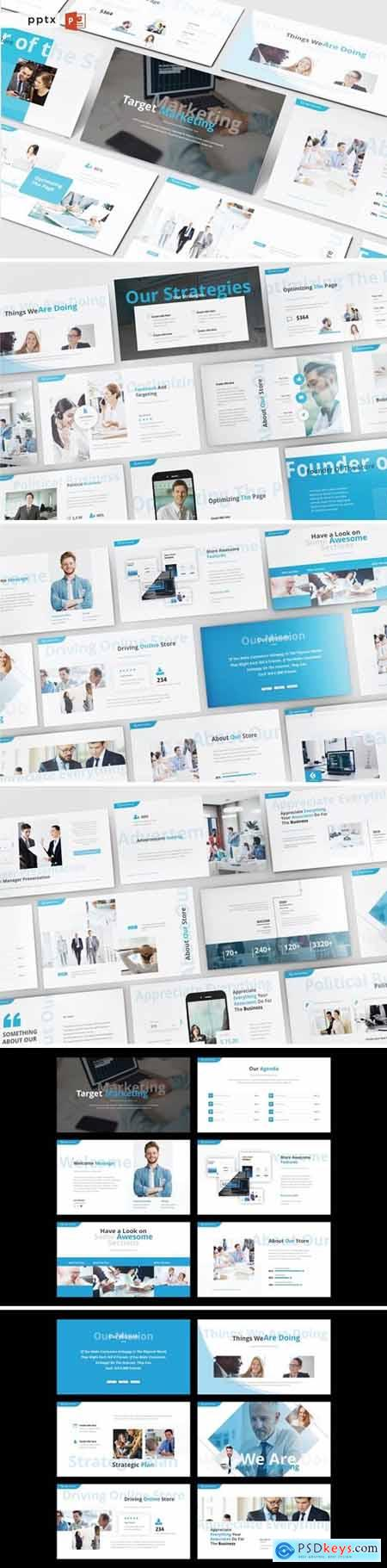TARGET MARKETING Powerpoint, Keynote and Google Slides Templates