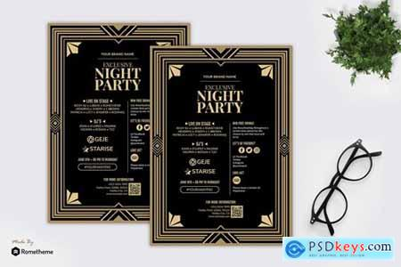 Night Party - Gatsby Theme Party Flyer RB