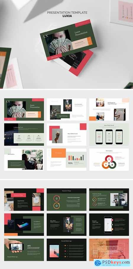 Luxia - Digital Marketing Agency Powerpoint, Keynote and Google Slides Templates