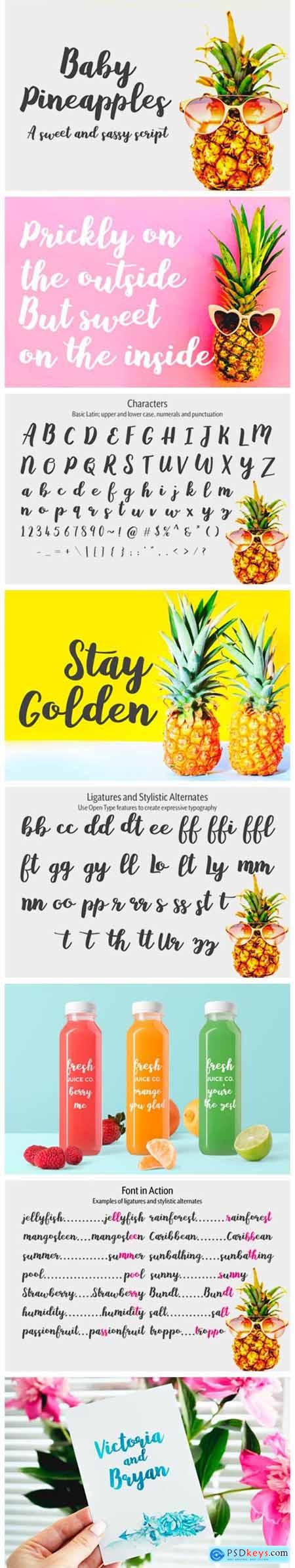 Baby Pineapples Font