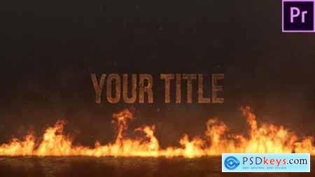 Videohive Epic Fire Title 23617064