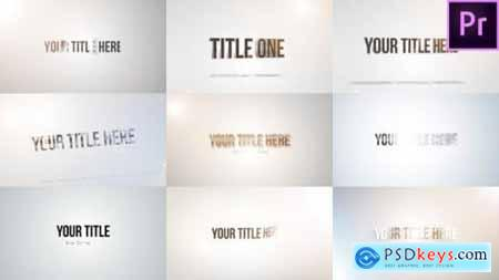 Videohive Quick Title Sting Pack Clean & Bright 23229433