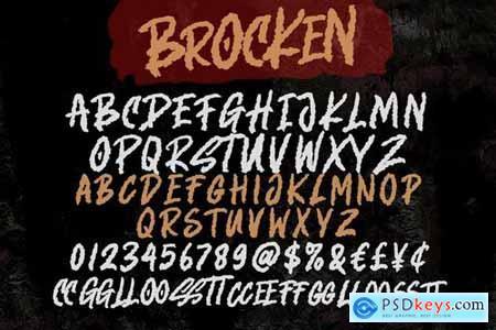 Brocken - Caps Rough Font