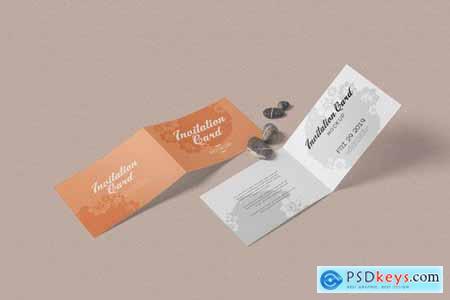 Landscape Bi-Fold Invitation Card Mockups