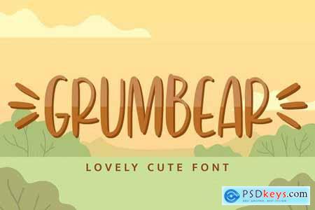 Grumbear - Lovely Cute Font