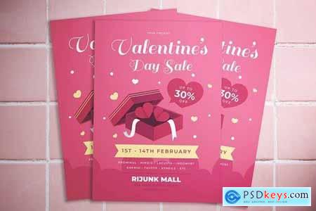 Valentine Day Sale Flyer