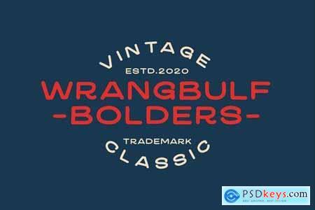 Wrangbulf Bold Typeface