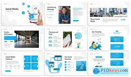 Social Media - Internet Powerpoint Template