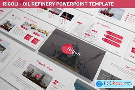 Rigoli - Oil Refinery Powerpoint Template