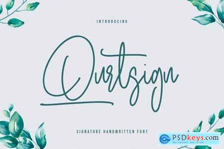 Qurtsign Signature Font