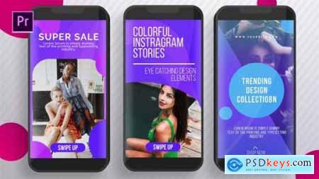 Videohive Colorful Instagram Stories 25595075
