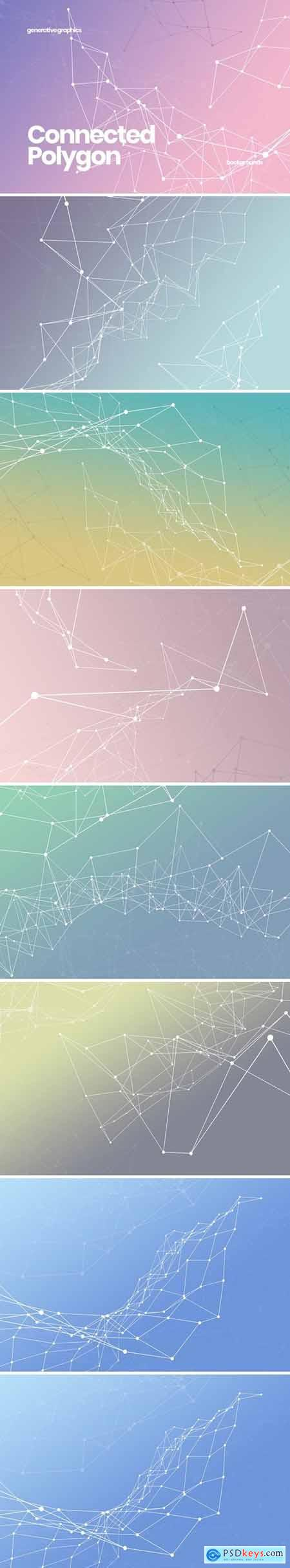 Connected Polygon Backgrounds