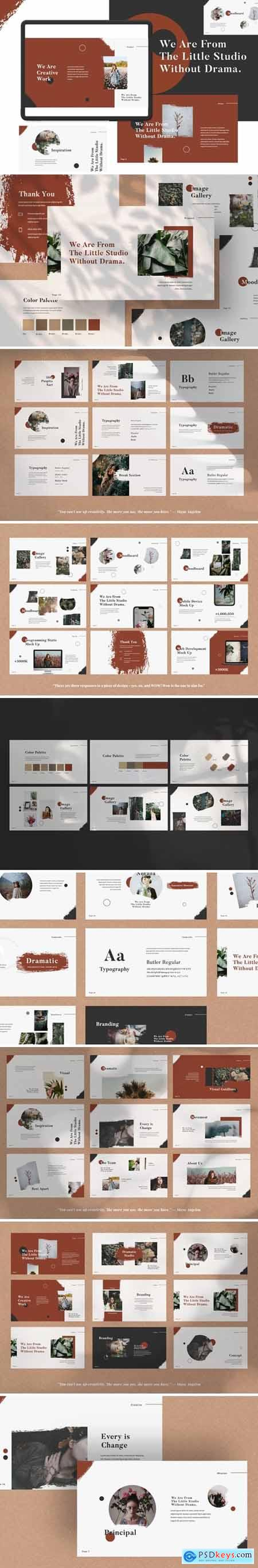 Dramatic Studio Presentation Powerpoint, Keynote and Google Slides Templates