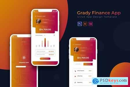 Grady Finance - App Design Template