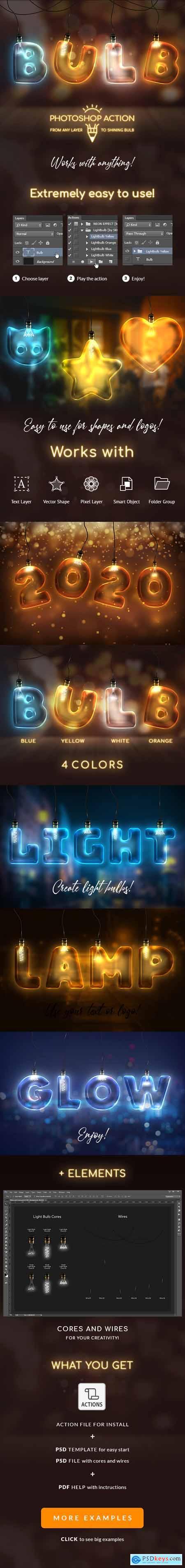 Light Bulb - Photoshop Action 25602135