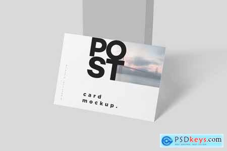 7 x 5 One Page Post Card Mockups