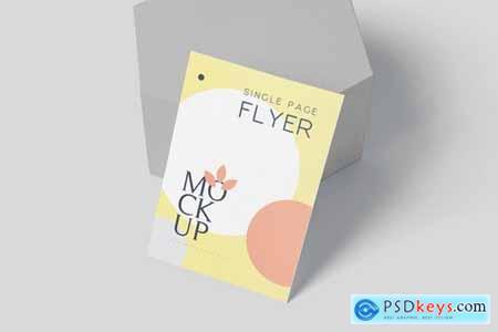 A6 Size Single Page Flyer Mockup
