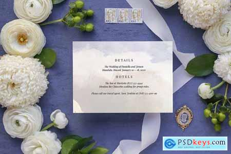 Celestial Wedding Invitation Card